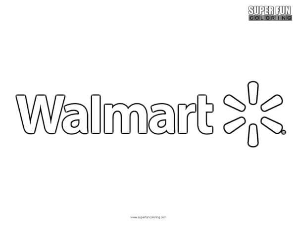 Wal Mart Coloring Page