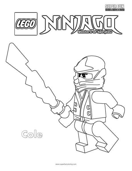 Cole Lego Ninjago Coloring Page - Super Fun Coloring