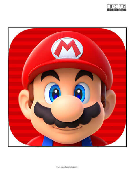 Super Mario Run App Coloring Page Android Iphone
