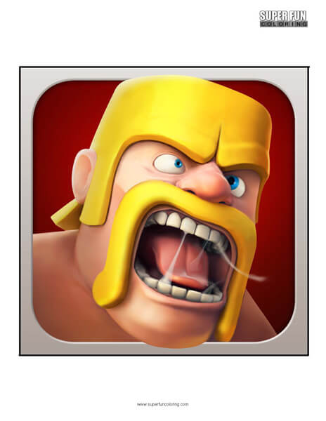 Clash of Clans App Coloring Page Android Iphone