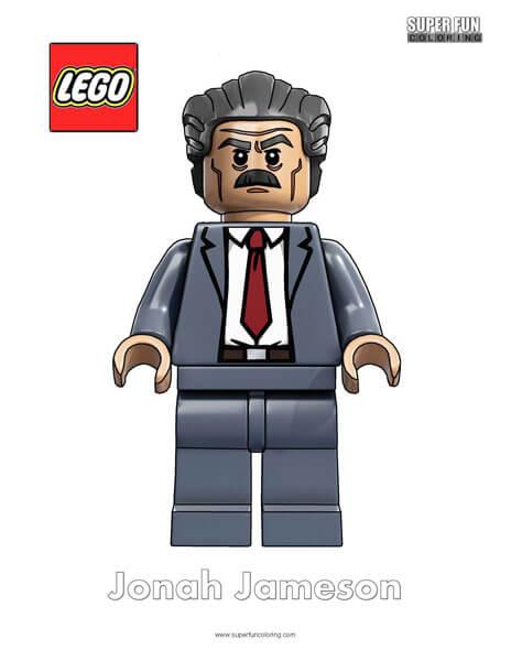 Lego Jonah Jameson Minifigure Coloring Page
