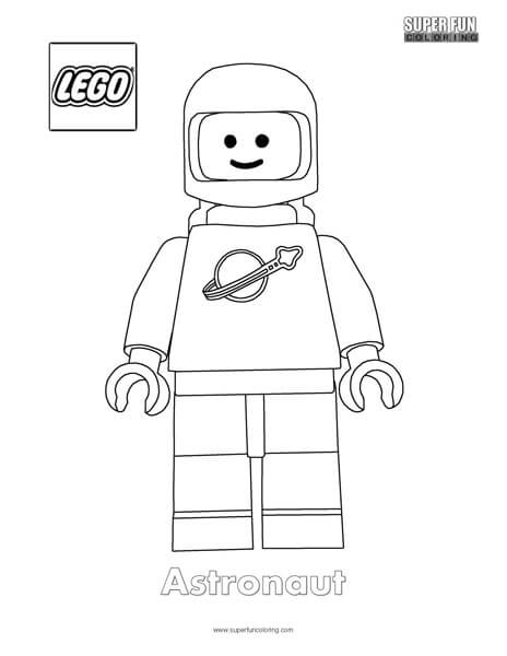 Lego Minifigure Coloring Super