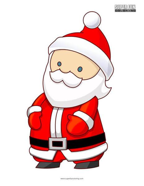 Cartoon Santa Claus Coloring Page