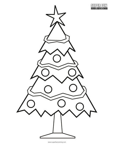 Christmas Tree Coloring Page Super Fun Coloring
