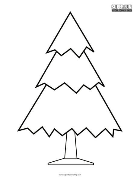 Christmas Tree Coloring Page - Super Fun Coloring