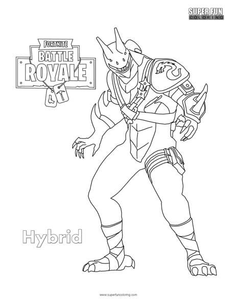 Fortnite Hybrid Coloring Page Super Fun Coloring